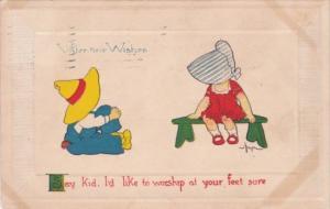 Valentine's Day Dutch Children 1917 Gibson