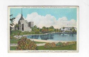 Vtg 1920's/30's Wade Park, Cleveland, Ohio View Sapirstein Postcard