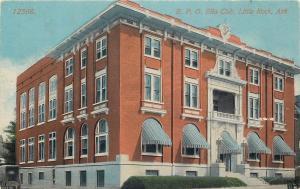 Little Rock AR~BPOE Elks Club~Blue Pinstriped Dome Awnings 1910 Postcard
