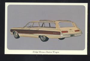 1967 DODGE MONACO STATION WAGON VINTAGE CAR DEALER ADVERTISING POSTCARD