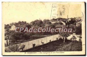 Postcard Old Ormesson Rue Langevin And Its Overview