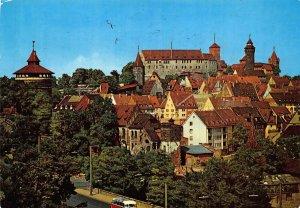 Nurnberg Blick auf die Burg Castles Panorama Postcard