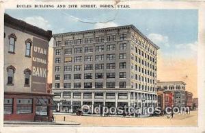 Eccles Building Ogden, Utah, USA 1923 tear front top edge