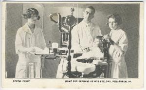 Pittsburgh PA Dental Dentist Clinic Orphans Odd Fellows Home Postcard