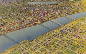 Aerial View Of Little Rock Arkansas 1948