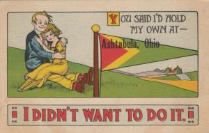 ASHTABULA, Ohio, 1900-10s; You said I'd Hold my own, Lady sitting on Man's lap