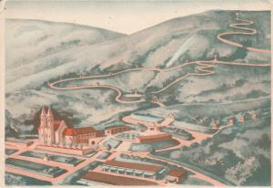 HUNGARY; Aerial View of Hillside Town, 1930s