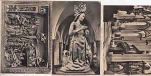 Lubeck St Marienkirche Katharinenkirsche 1433 Scuplture 3x Kirche Postcard s