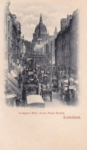 LONDON, England, 1900-1910's; Ludgate Hill, From Fleet Street