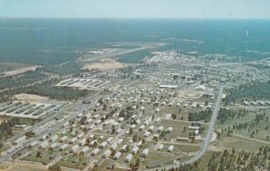 FORT POLK, Louisiana, 1940-60s; Aerial View showing 4th Training Brigade area