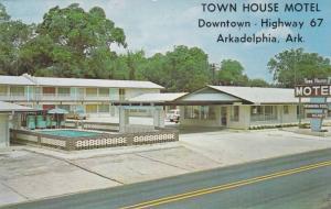 Exterior, Town House Motel,swimming pool, Arkadelphia, Arkansas,40-60s