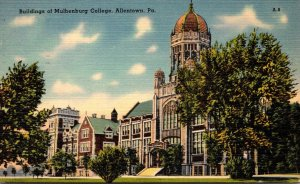 Pennsylvania Allentown Buildings At Muhlenburg College 1952
