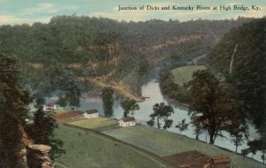 HIGH BRIDGE, Kentucky, 1900-10s; Junction of Dicks and Kentucky Rivers