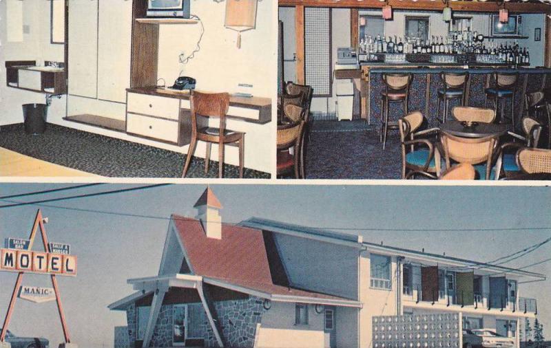 3-Views, Motel Manic Inc., Comte Saguenay, Quebec, Canada, 1940-1960s