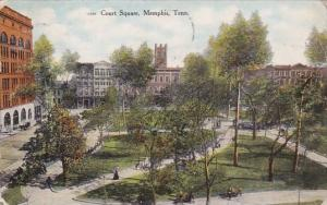 Tennessee Memphis Court Square 1909
