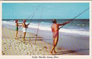 Florida Surf Fishing On A Florida Beach