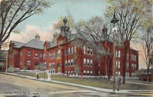 Little Falls New York~High School~Ladies Walking~Man under Lamp~Dog~1908 Pc
