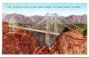 Colorado Royal Gorge Suspension Bridge Highest Bridge In The World