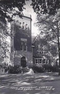 Illinois Fairbury First Methodist Church Real Photo RPPC