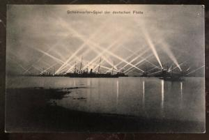 Mint RPPC Postcard Germany Headlight game of the german fleet Battle Ships
