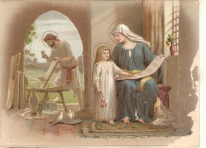 The Holy Family Nice Spanish religious cards