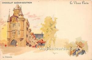 Advertising Postcard - Old Vintage Antique Le Vieux Paris Chocolat Guerin Bou...