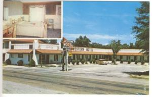 DeQueen AR Western Hotel Interior Exterior View Old Car Postcard
