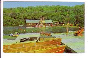 Boats, Water Slide, Miner's Bay Louge, Ontario,