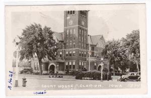 Court House Cars Clarion Iowa RPPC Real Photo 1940s postcard