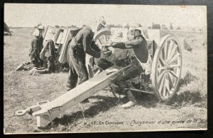 Mint France Real Picture Postcard WWI Loading A Big Canon