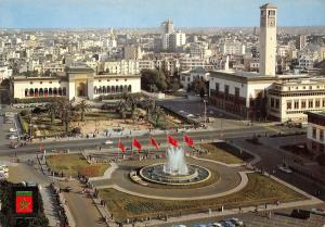 Maroc Morocco Casablanca Fontain luminous and musical. United Nations Square