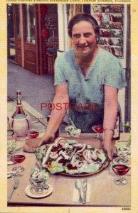 1950 LOUIS PAPPAS' FAMOUS RIVERSIDE CAFE, TARPON SPRINGS, FLORIDA