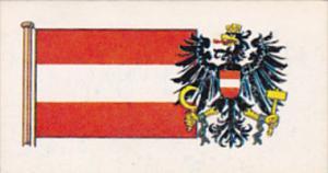 Vintage Trade Card Brooke Bond Tea Flags and Emblems Of The World No 33 Austria
