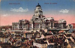 Belgium Bruxelles Palais de Justice Palace Partial view Postcard