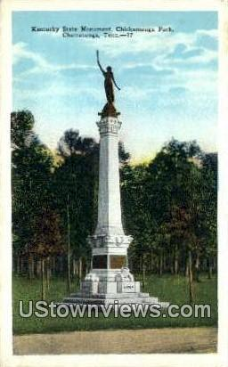 Kentucky State Monument Chickamauga Park  Chattanooga TN Unused
