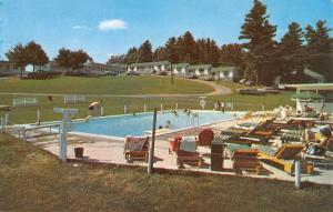 Weirs New Hampshire Shangri La Pool View Vintage Postcard K69603