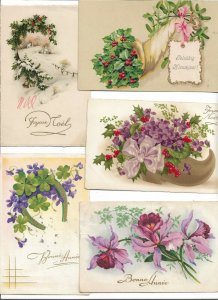 Beautiful New Year Worth A Look! Vintage Postcard lot of 9 01.12