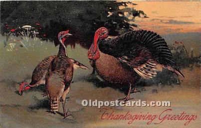 Thanksgiving Greetings Postcard Artist PFB