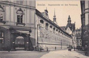 Germany Dresden Augustusstrasse Mit Dem Fuerstenzug sk3829