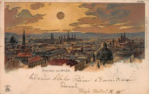 Panoramic View of Vienna, Austria, Very Early Postcard, Used in 1901