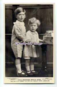r0895 -  Princess Mary's sons George & Gerald Lascelles - postcard