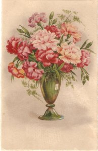 Flowers in vase Nice vintage Spanish postcard