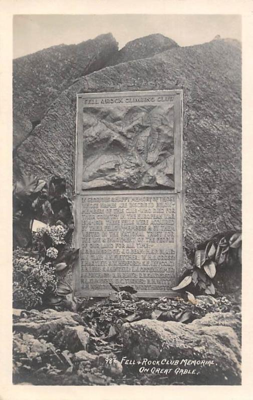 Fell Rock Club Memorial on Great Gable