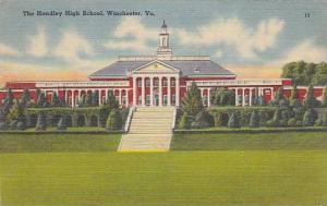 The Handley High School, Winchester, Virginia, 1930-1940s
