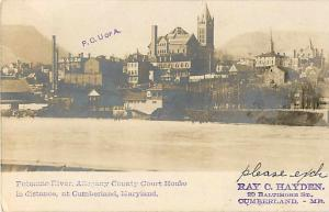Allegheny Court House & Area of Cumberland Maryland MD 1905