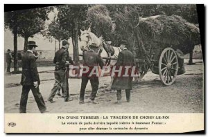 Old Postcard Police Detective Ending terror & # 39A The tragedy of Choisy le ...