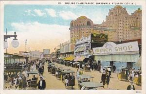 New Jersey Atlantic City Rolling Chair Parade On The Boardwalk Curteich
