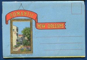 Romantic New Orleans Louisiana la General Johnston Statue Market postcard folder