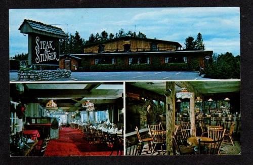 Ny Steak Stinger Restaurant Lake Placid New York Pc Hippostcard