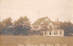 Bath Maine New Meadows Inn Real Photo Vintage Postcard JJ649078